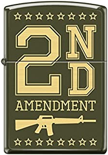 Zippo Custom Design 2nd Amendment Windproof Collectible Lighter. Made in USA Limited Edition & Rare