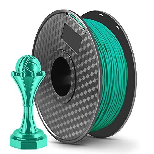 LONENESSL 3D PLA Printing Filament 1.75mm 1KG Spool Printer Filament Bundle, Dimensional Accuracy +/- 0.02 mm Printer Consumables Green