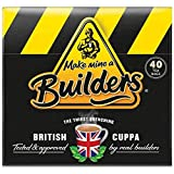 Make Mine a Builder's Teabags | Master Blended British Black Tea (Black, 40 Count (Pack of 1))