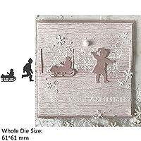 スクラップブッキングやカード作るためのハロウィーンの冬ガールボーイハウスフラワーWordの金属切削ダイス (色 : H4057)