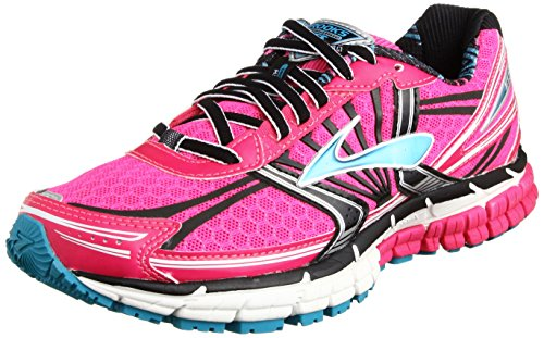 Brooks Adrenaline GST 14 Women, Damen Laufschuhe, Pink (Pink Glow/Black/Capri Breeze) Gr. 37.5 EU
