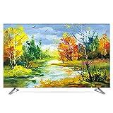 TINGTING Tv Abdeckung Ölgemälde Landschaftsmalerei Nordisch LCD-TV-Staubschutzhülle Stoffbezug Monitorabdeckungen (Color : Brussels, Size : 40inch)
