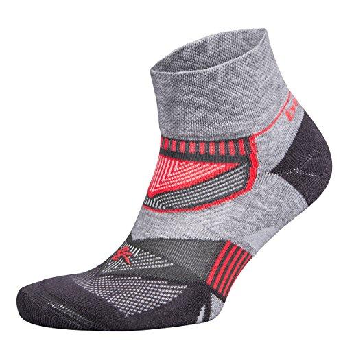 Balega Enduro V-Tech Quarter Socken für Damen und Herren (1 Paar) (Modell 2017), Unisex-Erwachsene, Midgrey/Carbon, Small