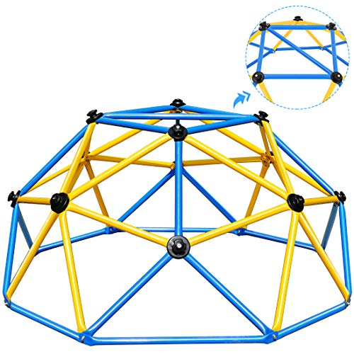 Zupapa 6FT Outdoor & Indoor Geometric Dome Climber with 750LBS Weight Capability, 3-Year Warranty,Suitable for 1-6 Kids Climbing Frame
