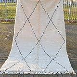 Alfombra marroquí Beni Ourain Berber – Alfombra oriental 100% tejida a mano natural tribal lana – Forma de diamante – 274 x 168 cm