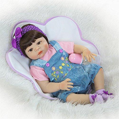 Bebé suave niña Reborn muñecas niños juguete Full silicona vinilo 23 '' 57 cm vida real bebe Reborn muñeca viva cumpleaños Navidad regalo de bodas reducir ansiedad ayudar autismo mujeres embarazadas