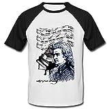 Photo de teesquare1st Men's Wolfgang Amadeus Mozart Black Short Sleeved T-Shirt Size Small par