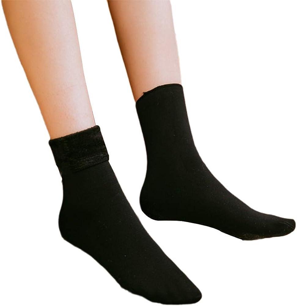 SAPJON Women Fuzzy Socks Winter Max 64% OFF Solid Cozy Micr Warm thick Super special price