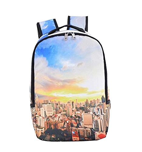 Beautiful Print Dacron Backpack for Students/Travelers