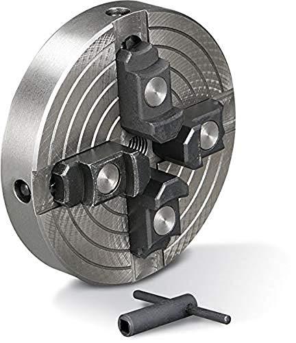 Holzstar Vier-Backenfutter (für Drechselbank, Spannbereich außen 42-157 mm / innen: 22-59 mm, mit Schraubeinsatz), 5931020