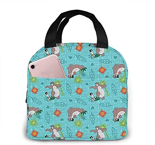 Springs Creative Jungle Book Bolsa de almuerzo para mujeres,niñas,niños,bolsa de picnic aislada Gourmet Tote Cooler,bolsa cálida para trabajo escolar,oficina,camping,viajes,pesca