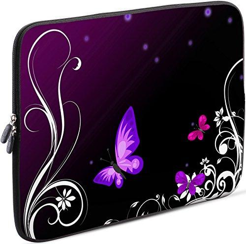 Sidorenko Laptop Tasche für 15-15,6 Zoll | Universal Notebooktasche Schutzhülle | Laptoptasche aus Neopren, PC Computer Hülle Sleeve Hülle Etui, Violett