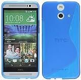 ENERGMiX Silikon Hülle kompatibel mit HTC One E8 Tasche Hülle Gummi Schutzhülle Zubehör in Blau