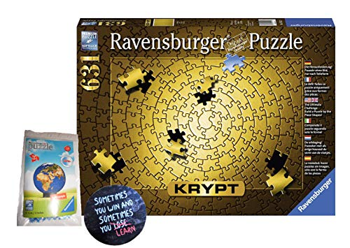 Ravensburger Erwachsenenpuzzle 151523 Ravensburger 151523-Krypt Gold-Erwachsenenpuzzle + 1 Cooler Sticker Sometimes You Win.. by Collectix und 3D Puzzle gratis