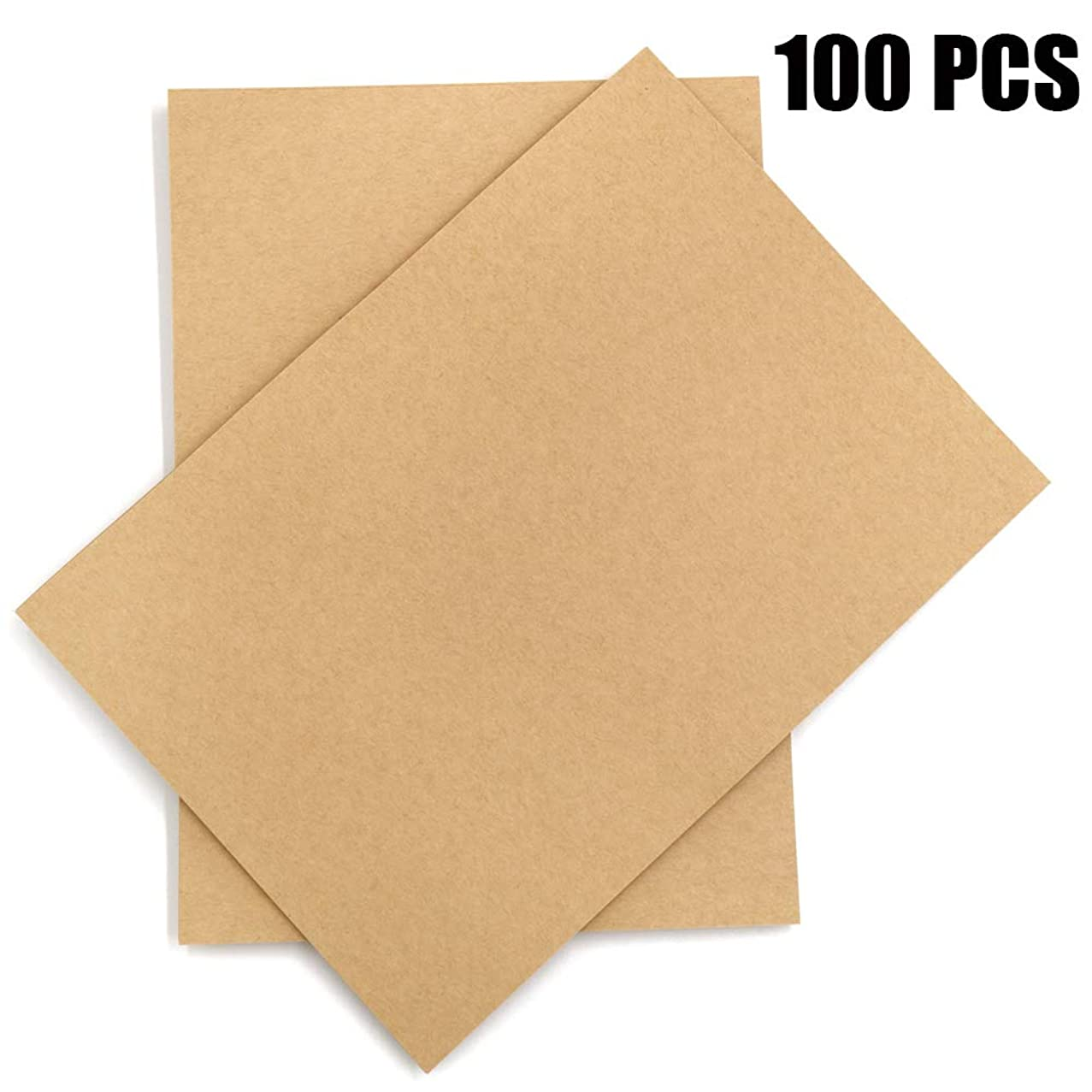 Brown Kraft Paper,100 Sheets A4 Stationery Paper,120GSM Brown Paper Perfect for Arts, Crafts, and Office Use, 8.3