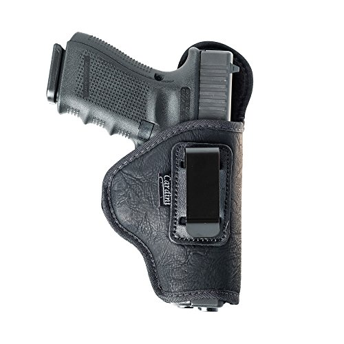 Cardini Leather Inside The Waistband Holster for CZ Rami 2075. Soft Nylon, Comfortable Wear & Durable for Conceal Carry. Black Right Hand.