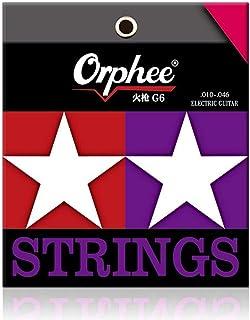 6 قطع من Orphee / مجموعة خيوط الغيتار الكهربائية مطلية بالنيكل الصلب المهني الغيتار الكهربائي G4/G5/G6/G7 (G6)