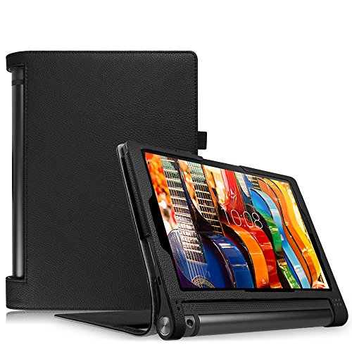 FINTIE Case for Lenovo Yoga Tab 3 10 10.1-Inch Tablet - Folio Premium PU Leather Cover with Auto Sleep/Wake Feature, Black