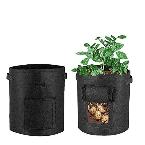 SUNTRADE Kartoffelbeutel, Vliesstoff, Klettverschluss, für Fenster, Garten, Pflanzgefäß für Tomaten, Kartoffeln, Gemüse (33 * 38cm(37.9 Litre))