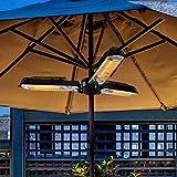 WANGXIAO Infrarot Heizstrahler, Terrassenheizer mit 3 Heizstufen 650/1300/1950W Deckenstrahler IPX4 für Innen- und Außenbereich GS - Zertifiziert