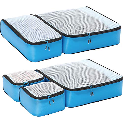 eBags Light 5pc Packing Cubes (Blue)