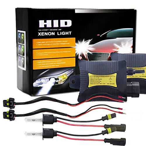 YXY-DE Auto Außenlampe, Xenon-Lichtkonverter-Kit mit 55W H3 4300K 3200LM HID mit hoher Intensitätsentladung Slim Ballast, warmweiß