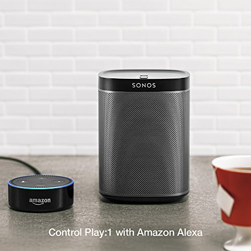 Sonos Original Play:1 - Compact Wireless Speaker for streaming music. Compatible with Alexa devices for voice control. (Black)
