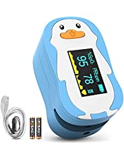 Pulse Oximeter Fingertop, HOMIEE Blood Oxygen Saturation Monitor SpO2 Oximeter with Automatic Sleep Function, 4 Directions OLED Display, Carry Bag, Batteries and Lanyard