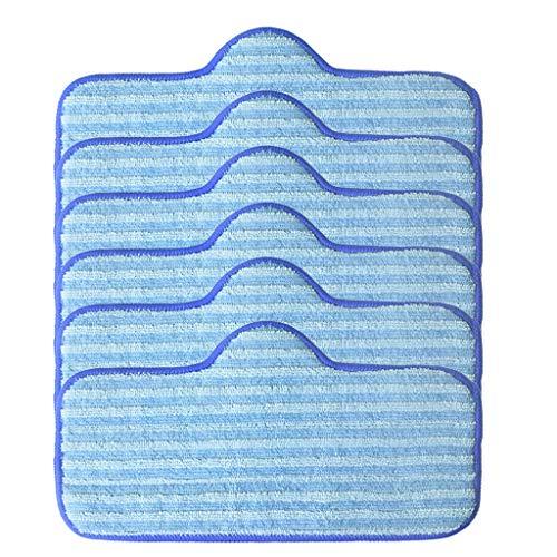 Yusell Mikrofaserpads Kompatibel für Dupray Ne-at Dampfreiniger Fiber Mop 6er Pack