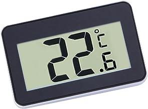 Termómetro Digital LCD Para Frigorífico Congelador Sensor De Temperatura Negro/Blanco - Negro