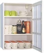 المطبخ الحمام جدار خزانة خزائن الجدار خزائن تخزين المطبخ الحمام 1 باب خزانة جدار مزدوجة الباب خزانة (اللون: أبيض 2، الحجم:...