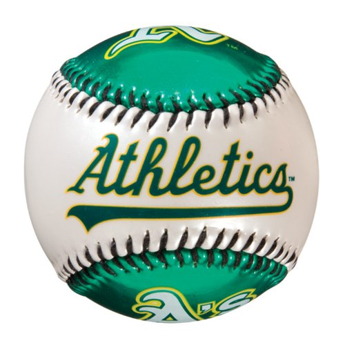 Franklin Sports MLB Oakland Athletics Team Baseball - MLB Team Logo Soft Baseballs - Toy Baseball for Kids - Great Decoration for Desks and Office