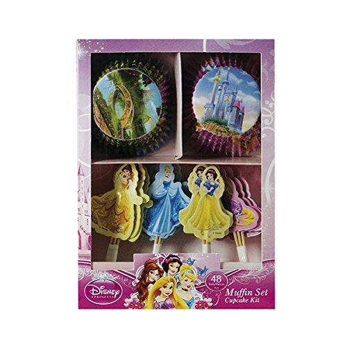 Dekoback 01 – 14 – 00729 Muffin Set Disney Princess, 48 Pezzi
