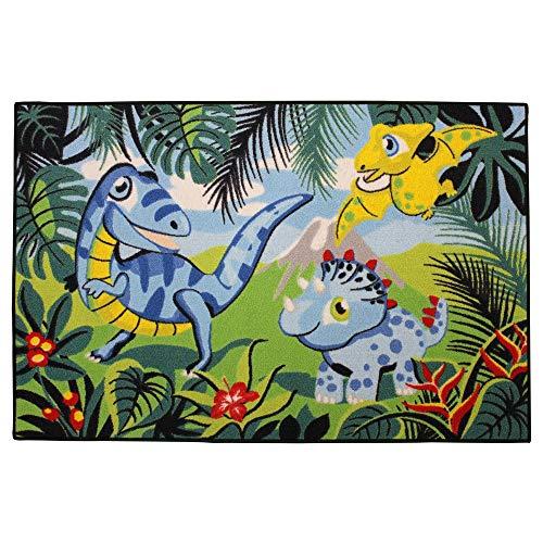 GUIZMAX Compatible avec Tapis Enfant Dinosaure 120 x 80 cm Chambre