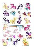 My Little Pony Ponies Kuchendekoration aus Esspapier