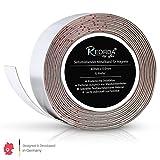 Reorda Cinta metálica autoadhesiva para imanes - cortable I elástica I flexible I ferro con (longitud de la cinta 6m, anchura 4cm)