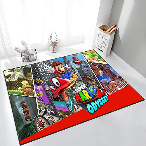 GOOCO Super Mario baby rugs for play area nursery area rug gifts for baby for children's bedroom,Bedroom Coffee Table Carpet Decoration-Mario Tennis aces