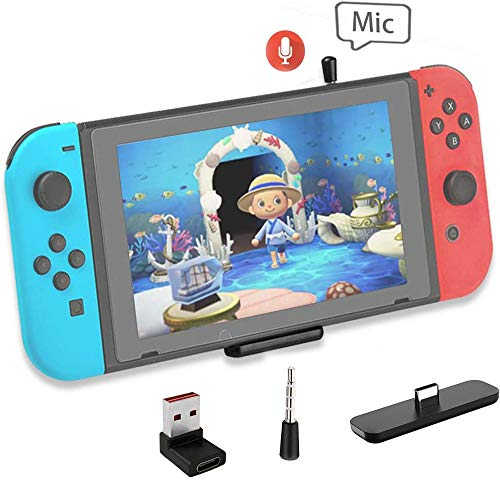 Mocoe Bluetooth Adapter for Nintendo Switch/Lite, with USB/Type C Connector, Dual-Stream Wireless Audio Transmitter Capable of Linking Bluetooth Device with aptX Low Latency