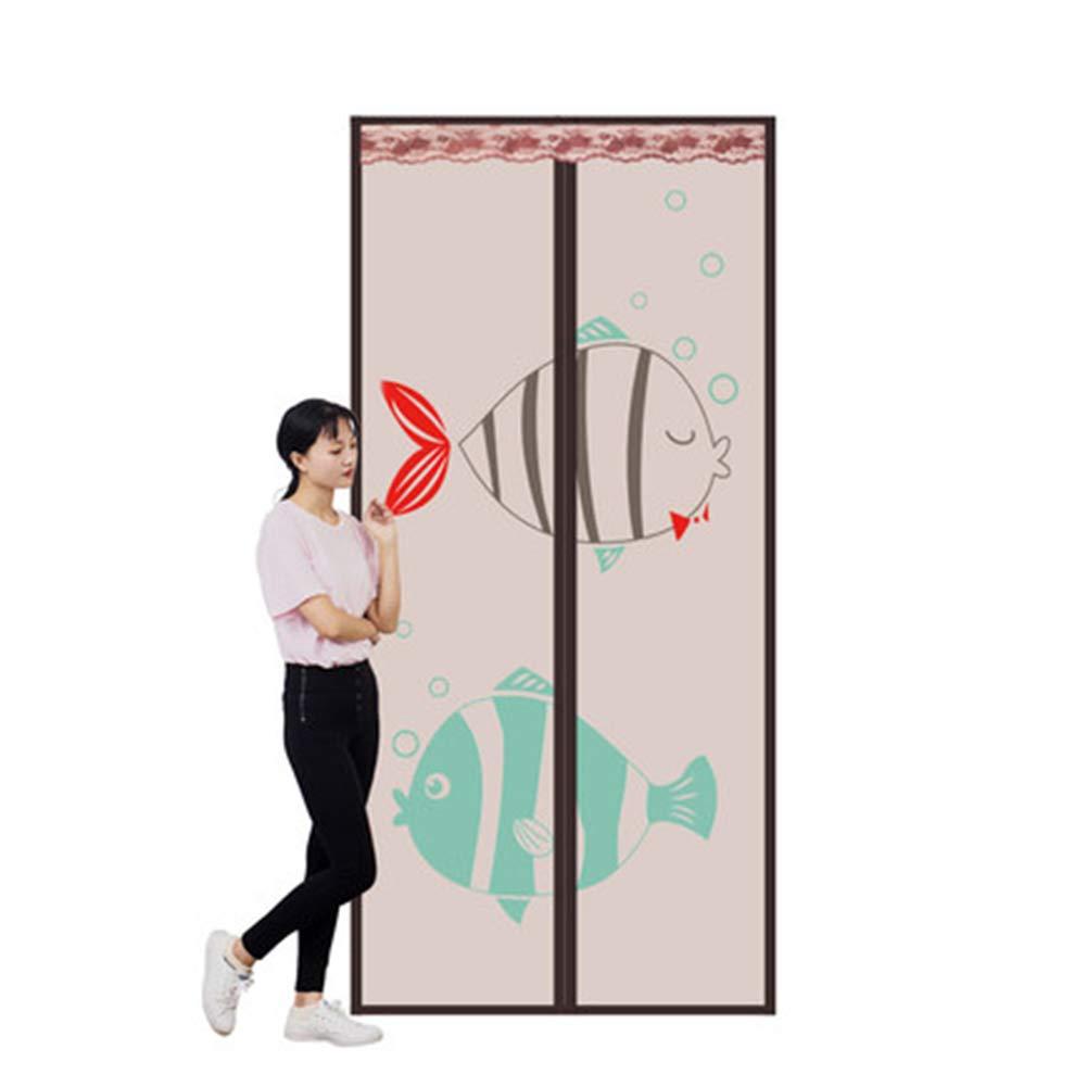 QDR Mosquitera Puerta Magnetica Blanca,Cortina para Enrollable, De Pantalla del Acoplamiento Mejorada,para Puertas Correderas/Balcones/Terraza,85x210cm(33x83inch): Amazon.es: Hogar