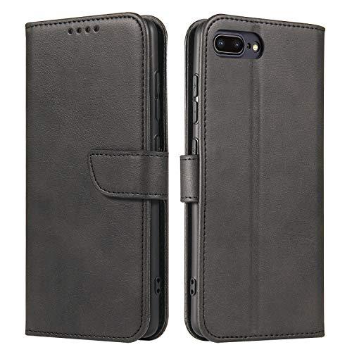 ANCASE Funda de Cuero Compatible con Apple iPhone 7 iPhone 8 iPhone SE 2020 Negro con Tapa Libro PU Case Cover Completa Protectora Funda para Teléfono Piel Tarjetero Modelo