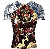 SHOGUN Fight Rash Guard BJJ MMA Premium Jiu Jitsu Fighting Grappling Compression Shirt, XX-Large Samurai