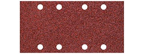 Wolfcraft Haft-Schleifstreifen Korund, Korn 240, 93 x 185 mm, 10 Stück, 5803000