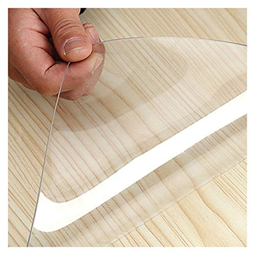ALGXYQ Alfombrilla Plástico Estera de Puerta Transparente PVC Alfombra Protector 1,5/2,0/3,0 Mm Impermeables Manteles Individuales, Personalizable (Color : 1.5mm, Size : 100x100cm)