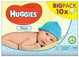 Huggies - Salviettine Pure per bambini, 10 confezioni da 56 pezzi