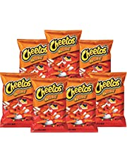 American Crunchy Cheese Cheetos (77.9g 7 Pack) Famous Spicy Cheesy Chili Corn Crisps Snacks Classic Popular Fun Bag Bulk Deal Fancy Appetizers grab varieties hot & queso flavor botanas Mexican