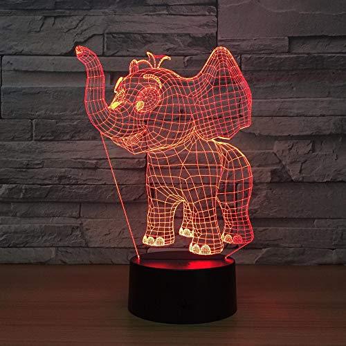 shiyueNB Kleine Olifant Acryl 3D LED Verlichting Kleurrijke LED Nachtlampje USB Plug in Creatieve Geschenken Commerce de Gros Kinderen BesGift
