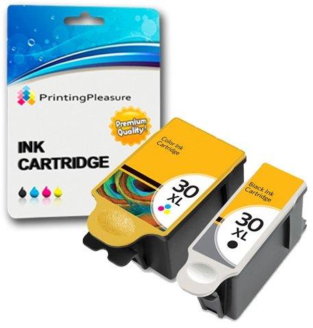 2 XL Druckerpatronen für Kodak ESP C100, C110, C115, C300, C310, C315, C330, C360, 1.2, 3.2, 3.2S, Office 2100, 2150, 2170 AIO, Hero 2.2, 3.1, 4.2, 5.1 | kompatibel zu Kodak 30B, 30CL