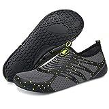 BARERUN Adult Swim Water Shoes Quick Dry Non-Slip for Girls Boys Yellow12-13 M US Women / 10-11 M US Men
