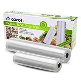 Aobosi Vakuumrollen Vakuumierfolie Rolle für alle Folienschweißgeräte,2 Rollen 28x600cm&20x600cm-Premium Qualität Folienbeutel Folienrollen Für Sous Vide und Food Saver BPA Frei und LFGB Zugelassen