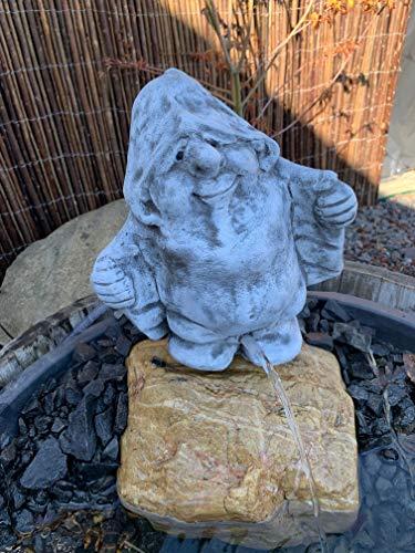 Steinfigur Wasserspeier Troll-Zwerk Garten Deko-Gartenfigur Koi Teich Neu W46